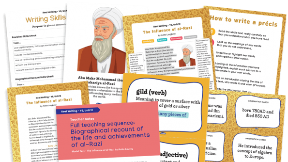 Image of Year 6 Model Text Resource Pack 12: 'The Influence of al-Razi' (Recount; History - Early Islamic civilisations)