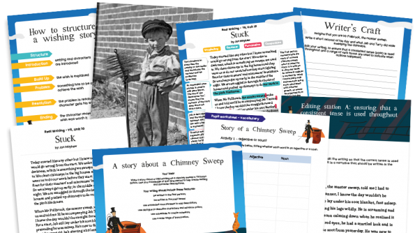 Image of Year 6 Model Text Resource Pack 10: 'Stuck' (Narrative; History - social history)