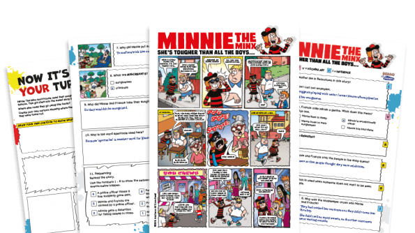 Free Resource Image for Minnie and the Sunglasses – KS2 Beano Comprehension and Writing Activities Pack