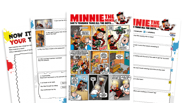 Free Resource Image for Minnie and the Toy Heist – KS2 Beano Comprehension and Writing Activities Pack