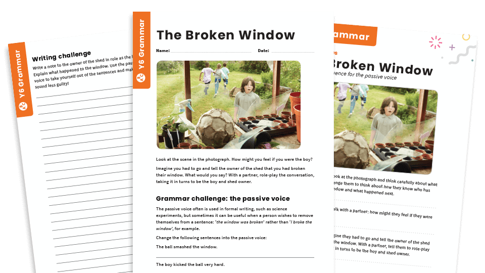 Passive Voice Story Starters Year 6 Tricky Grammar Worksheets Plazoom