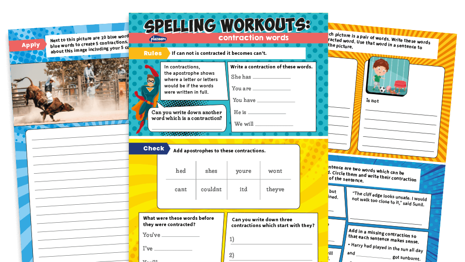 Year 2 Contractions – KS1 Apostrophes For Contraction Spelling And Grammar  Worksheets Plazoom