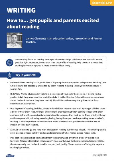 Image for cpd guide - How to... get pupils and parents excited about reading
