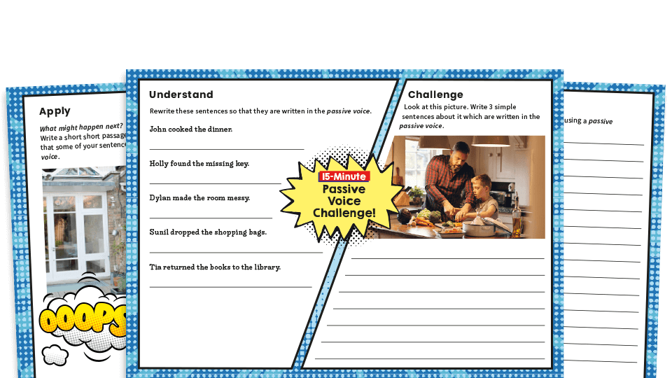 Year 6 Passive Voice SPaG Worksheets Plazoom