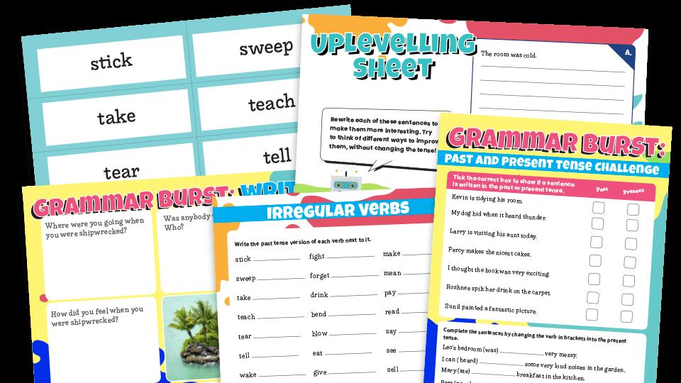 KS1 Past And Present Tense Grammar Worksheets Lesson Pack Plazoom
