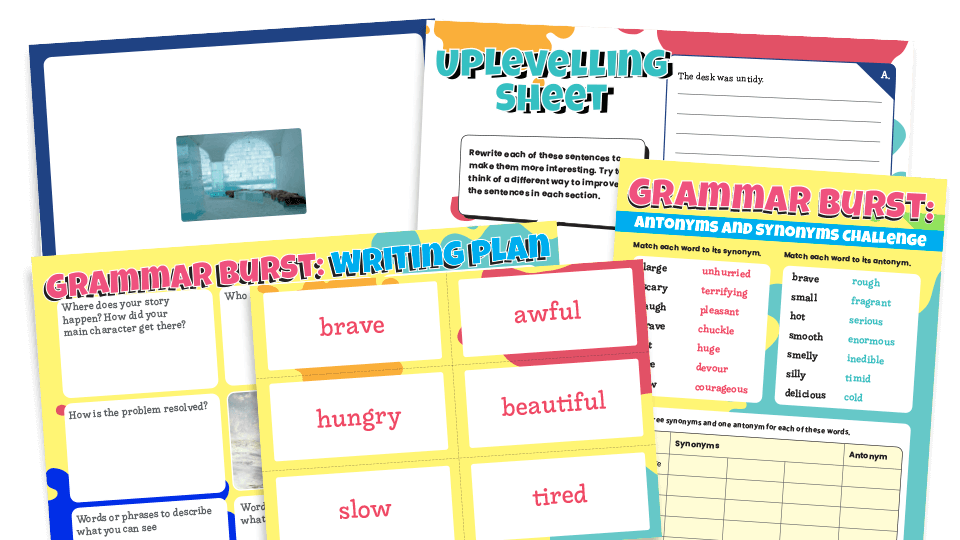 Year 6 Synonyms And Antonyms Grammar Worksheets Lesson Pack Plazoom