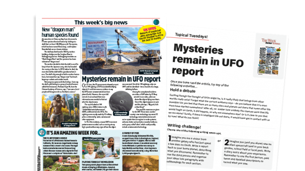 Free Resource Image for Topical Tuesdays: Is There Anyone Out There? – KS2 News Story and Reading and Writing Activity Sheet from The Week Junior