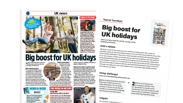 Free Resource Image for Topical Tuesdays: The Holidays are Coming - KS2 News Story and Reading and Writing Activity Sheet from The Week Junior
