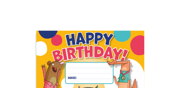 Preview image of Happy Birthday! certificate