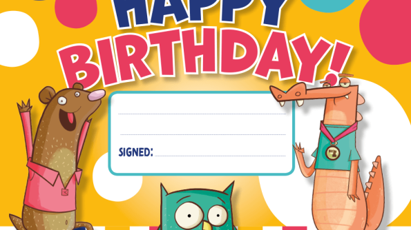 Image of Happy Birthday! certificate