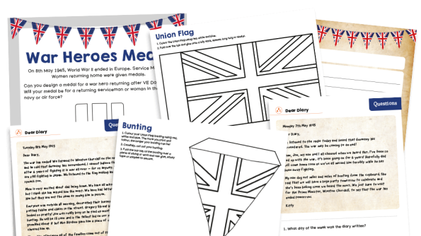 Image of KS1 Home Learning Pack: VE Day
