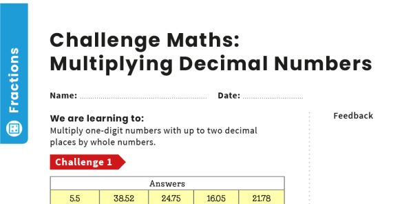 Preview image of Multiplying Decimal Numbers: Y6 – Fractions – Maths Challenge
