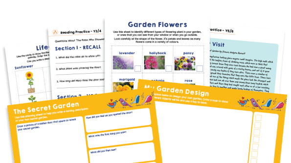 Image of KS2 Home Learning Pack: Garden Visitors