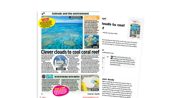Image of Topical Tuesdays from The Week Junior - Coral clouds