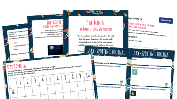 Image of KS1 Home Learning Pack: The Moon