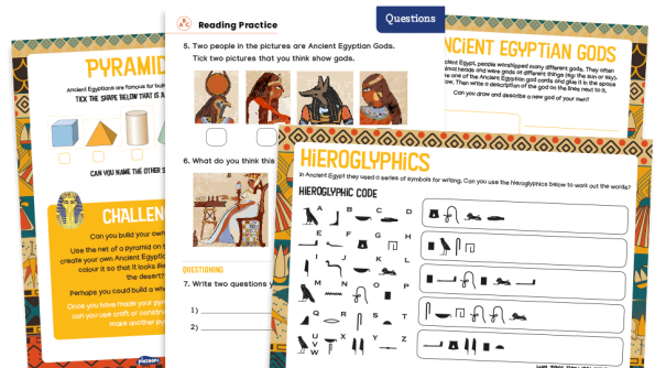 Image of KS1 Home Learning Pack: Ancient Egypt