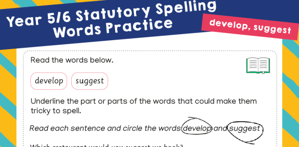 Preview image of Year 5-6 Statutory Spelling Words (SSW) - practice pack 4