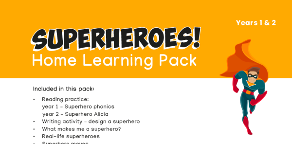Preview image of KS1 Home Learning Pack: Superheroes!