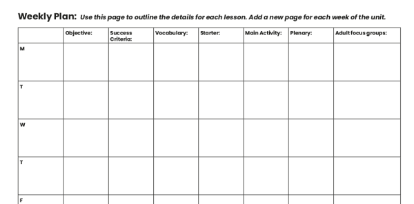 Preview image of Editable Primary Lesson Plan Template and English Unit Planning Grid