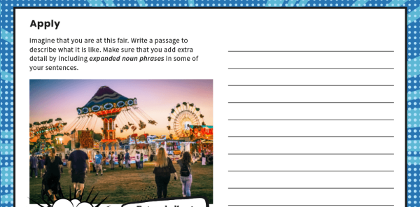 Preview image of Year 2 Expanded Noun Phrases SPaG Worksheets