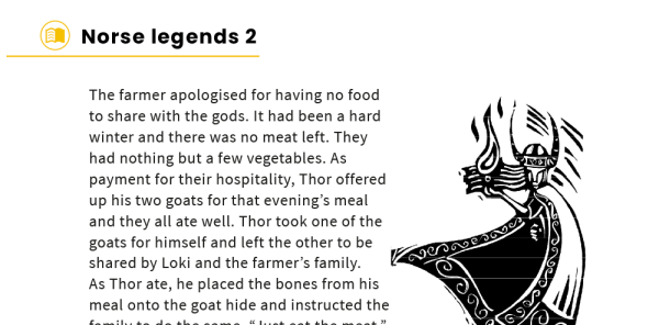 Preview image of KS2 Myths and Legends Model Texts – Norse Tales Pack 2