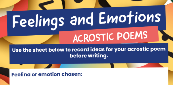 Preview image of KS2 Acrostic poems resource pack: feelings and emotions