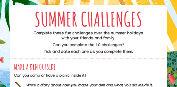 Preview image of Summer Holiday Home Learning Challenges