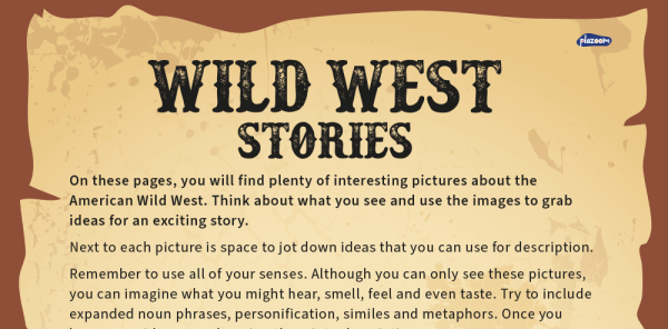 Preview image of KS2 Writing and Story Planning – Wild West Image Prompts and Inspiration Pack