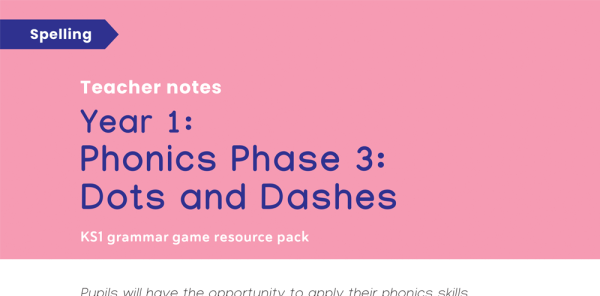 Preview image of Phase 3 Phonics: Year 1 Spelling Game - Dots and Dashes