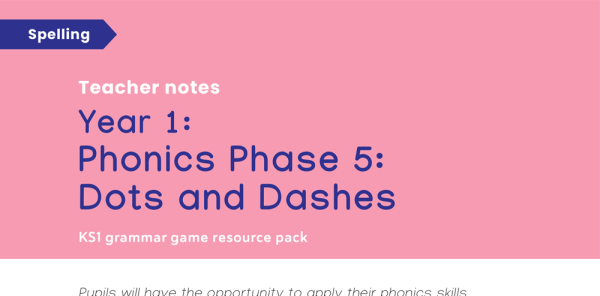 Preview image of Phase 5 Phonics: Year 1 Spelling Game - Dots and Dashes