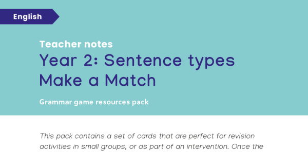 Preview image of KS1 Grammar Game: Year 2 Sentence Types Make a Match