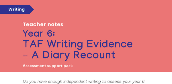 Preview image of KS2 SATS: Year 6 TAF writing evidence - a diary recount