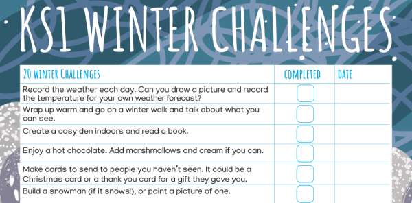 Preview image of KS1: 20 Winter Home Learning Challenges