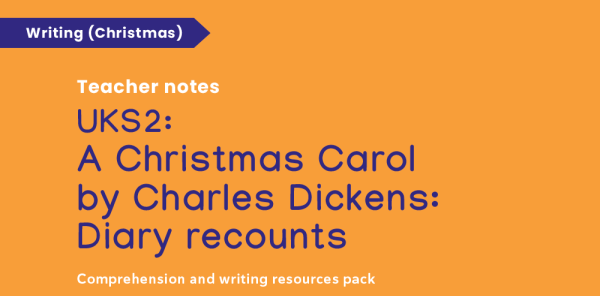 Preview image of Year 5 & 6 A Christmas Carol Festive Writing Resources Pack