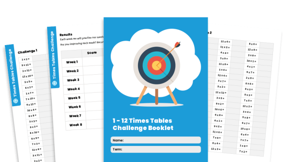 Image of 1 – 12 Times Tables Challenge Pack