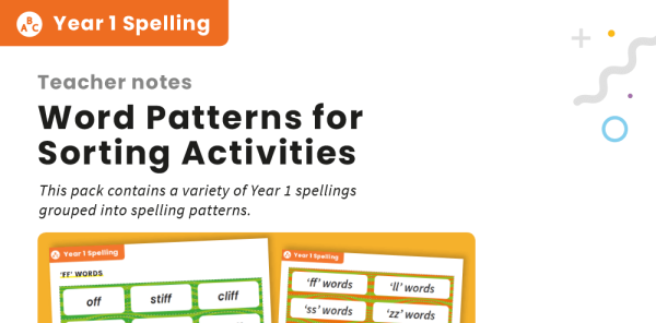 Preview image of Year 1 Spellings and Patterns – Word Cards and Activities Pack