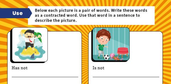 Preview image of Spelling Workouts, Y2: Contractions