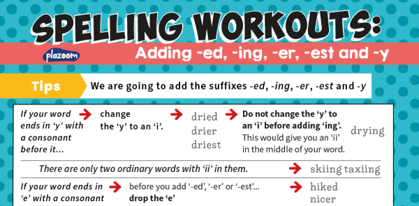 Preview image of Spelling Workouts, Y2: adding -ed, -ing, -er and -est