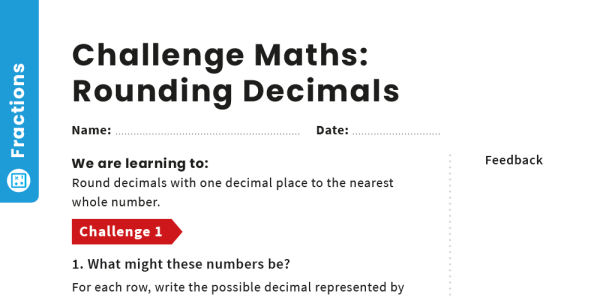 Preview image of Rounding Decimals: Y4 – Fractions – Maths Challenge