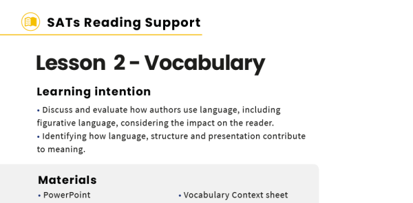 Preview image of KS2 SATs Reading Skills Support Pack