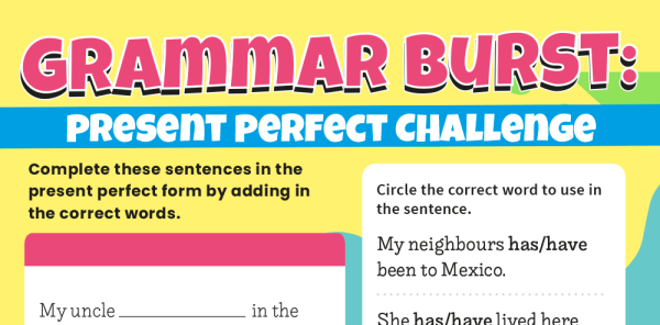 Preview image of Present Perfect Tense Year 3 Grammar Worksheets Lesson Pack