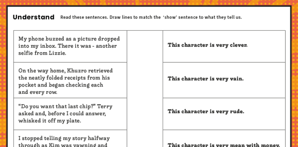 Preview image of KS2 Writing Features Challenge Mat: Creating Characters