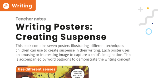 Preview image of Writing techniques: Creating suspense poster pack for KS2