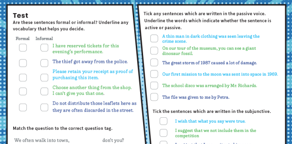 Preview image of Year 6 Grammar: Revision Worksheets