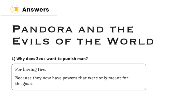 Preview image of Pandora and the Evils of the World – KS2 Reading Comprehension Worksheets: Greek Myths