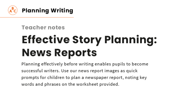Preview image of Effective Story Planning: News Reports