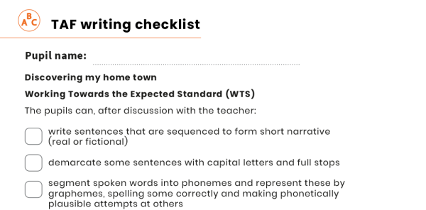 Preview image of KS1 SATs: year 2 writing assessment resource pack - Discovering your home town