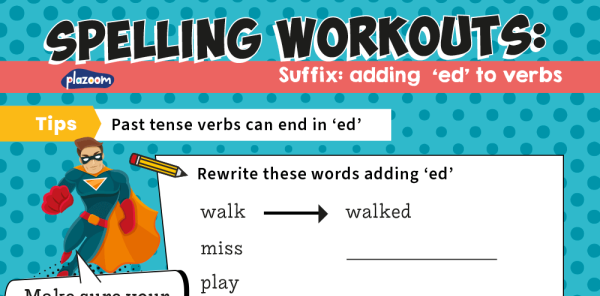 Preview image of Suffix Year 2 Worksheets: Adding '-ed' to Verbs – KS1 Spelling Workout