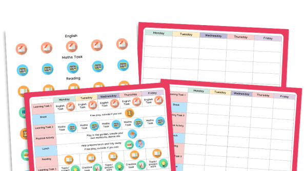 Image of Home Learning Timetables Pack