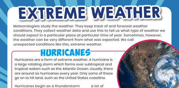 Preview image of KS2 Literacy Topic Pack, Years 3 and 4: The Weather